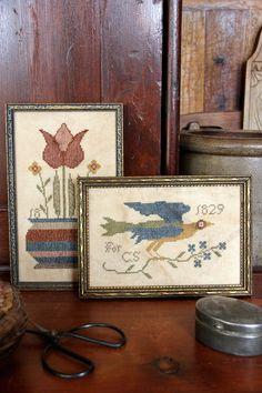 Fraktur Bird & Bouquet - March 2015 - Heartstring Samplery