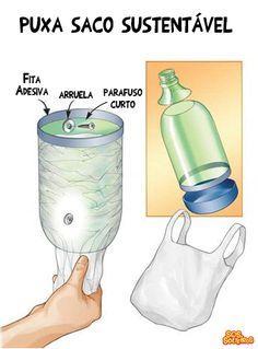 puxa saco sustentavel garrafa pet