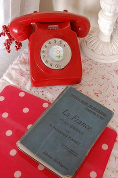 My husband and I thought we were  trendsetters because we chose a red telephone.