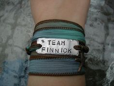 The Hunger Games Bracelet Wrap  TEAM FINNICK by theforksforest, $19.99
