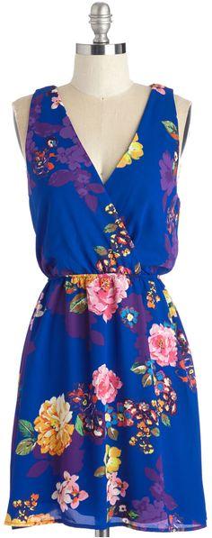 wrap front floral dress