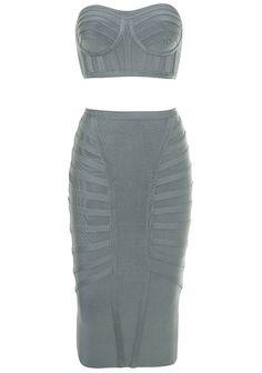 Dream it Wear it - Bandeau Midi Two Piece Bandage Dress Grey, $119.08 (http://www.dreamitwearit.com/bandeau-midi-two-piece-bandage-dress-grey/)