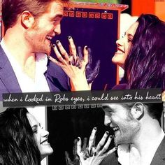 """When I looked in Rob's eyes, I could see into his heart."" --- Kristen"