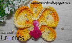 Orquídea Phalaenopsis em crochê por Carine Maria Strieder