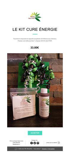 Présentation du Kit cure énergie Gautier, Biologique, Cure, Kit, Plants, Back Walkover, Hair, Flora, Plant