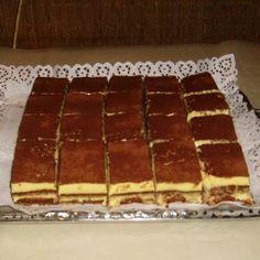 Krémes szelet Recept képpel - Mindmegette.hu - Receptek Tiramisu, Waffles, Red And White, Breakfast, Ethnic Recipes, Food, Morning Coffee, Essen, Waffle