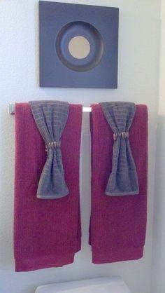 Trucos para decorar las toallas del baño - Para Más Información Ingresa en: http://disenodebanos.com/trucos-para-decorar-las-toallas-del-bano/