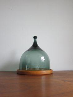 Glass Cheese Dome Benny Motzfeldt for Hadeland by ModernSquirrel, $110.00