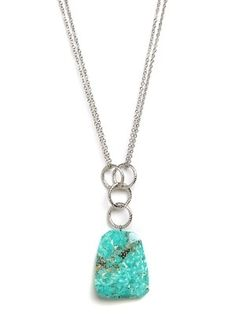 Long Turquoise Pendant - Necklaces - FUNCTION: Shop All - StyleSays