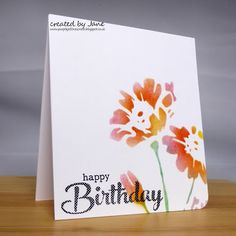 The challenge at CASology has the cue card of STENCIL and since I've had a stencil I've been itching to use this seemed like a good opportu. Cue Cards, Love Craft, Distress Ink, Slot, Stencils, Addiction, Happy Birthday, Challenges, Cas