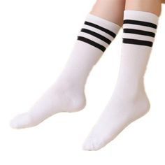 Hot Newly Fashion Sexy Striped Women's Long Socks Thigh High Over Knee High Socks Kawaii Cute Girls Black White Knee Socks Women Long Socks For Girls, Striped Socks, Black White Stripes, Thigh Highs, Latest Fashion Trends, Hosiery, Fashion Brand, Women's Socks, Knee Socks