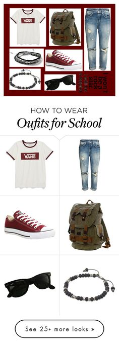 """09-23-16"" by clear-skye on Polyvore featuring Vans, Converse, Ray-Ban, Topman and M. Cohen"