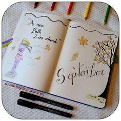 September spread in new bullet journal