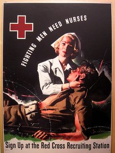 Vintage Red Cross poster....great to use for Memorial Day celebrations....