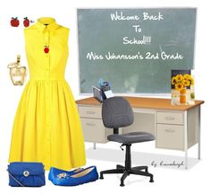 """""""Teachers Getting Classrooms Ready!!!"""" by brenaleigh ❤ liked on Polyvore featuring Lorell, Karen Millen, MICHAEL Michael Kors, Betsey Johnson and Mudd"""
