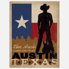 Texas poster art