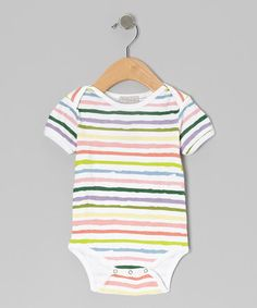 Take a look at this Rainbow Stripe Bodysuit - Infant & Toddler by Baby Brooklyn on #zulily today!