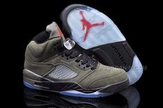 new concept dbff7 c447b Air Jordan 5 Suede Fear Sequoia Fire Red Medium Olive Black 626971 350  Boutique Basket,