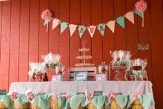ADORABLE girly farm party via Kara's Party Ideas KarasPartyIdeas.com