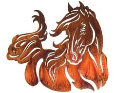 Resting Filly Horse Metal Wall Hanging