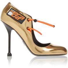 Decolette Pump | Moda Operandi (€1.020) ❤ liked on Polyvore featuring shoes, pumps, stiletto pumps, heels stilettos, leather footwear, genuine leather shoes and stilettos shoes
