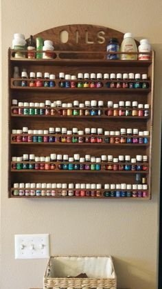 essential oil rack by Rosewoodwoodturning on Etsy