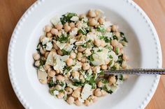 An easy, fresh and delicious chickpea salad - meaning it uses that can of beans you probably already have in your cupboard