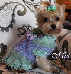 VIOLETTE Original Fluffy Skirted Dog Sweater  by mysavannahcottage, $85.00