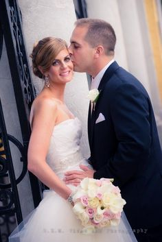 Bride and groom. Shot by REM Photographer John LaVere.  www.remvp.com