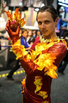 "The Human Torch (I think?) - fantastic execution on the ""flames"""
