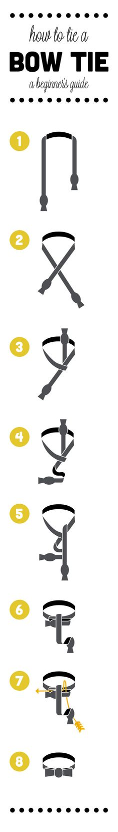 Learn how to tie a bow tie just in time for New Year's Eve.