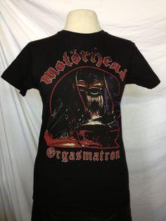 Vintage Classic Rock Motorhead Orgasmatronl Art T- Shirt XS. $19.99, via Etsy.