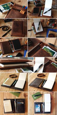 Small Moleskine leather cover. Dark brown journal leather cover by Just Wanderlust