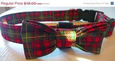 ON SALE 40 Percent Off Christmas Dog Collar  by katiesk9kollars, $10.80