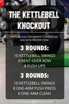 The Kettlebell Knockout - Coconuts & Kettlebells https://www.kettlebellmaniac.com/shop/ https://www.kettlebellmaniac.com/shop/