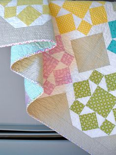 On a Whim quilt by Angela - Fussy Cut, via Flickr