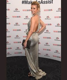 Rachel Riley flaunted her svelte figure in the silver gown