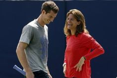 Andy Murray with his coach, former Wimbledon champ Amelie Mauresmo (Sang Tan, File/Associated Press)