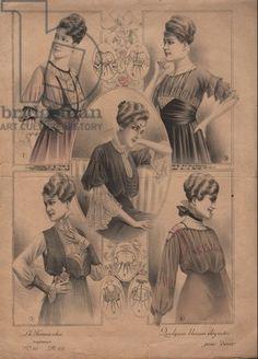 Femme chic et blouses elegantes vers 1940 extrait de la revue Illustration