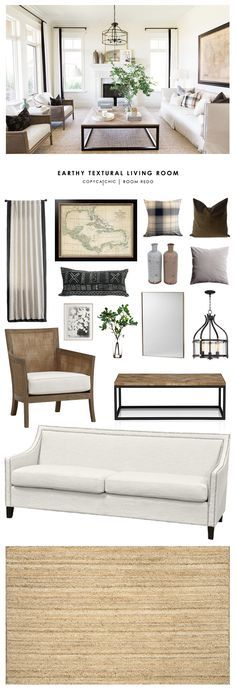 Copy Cat Chic Room Redo | Earthy Textural Living Room | Copy Cat Chic…