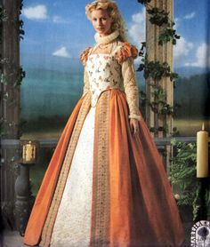 Elizabethan Gown SHAKESPEARE IN LOVE Costume Sewing Pattern Sizes 6-12 Uncut by sandritocat on Etsy
