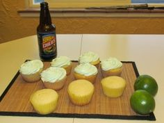 Chili Beer Cupcakes with Lime & Agave Frosting - Denver off the Wagon Beer Cupcakes, Chili Ingredients, Denver, Frosting, Lime, Mexican, Tea, Baking, Desserts