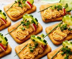 Kanapki na krakersach No Salt Recipes, Tasty, Yummy Food, Bruschetta, Food And Drink, Appetizers, Snacks, Cooking, Ethnic Recipes