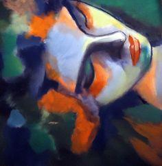 """Saatchi Online Artist: Helena Wierzbicki; Acrylic, 2012, Painting """"""""Nightfall""""""""."""