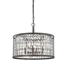 Found it at Wayfair - Crenwick 6 Light Drum Pendant