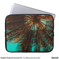 Choose from a variety of Tropical laptop sleeves or make your own! Shop now for custom laptop sleeves & more! Custom Laptop, Best Laptops, Personalized Products, Laptop Sleeves, Looks Great, Coconut, Tropical, Simple, Unique