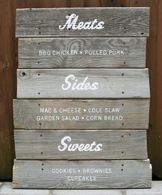 This would be the perfect way to display the buffet menu!
