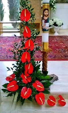 Help please help :) Funeral Floral Arrangements, Tropical Flower Arrangements, Church Flower Arrangements, Beautiful Flower Arrangements, Altar Flowers, Church Flowers, Funeral Flowers, Wonderful Flowers, Unique Flowers