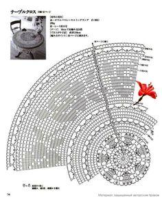 "Photo from album ""Crochet Lace on Yandex. Crochet Tablecloth Pattern, Crochet Snowflake Pattern, Crochet Doily Diagram, Filet Crochet Charts, Crochet Stitches Patterns, Thread Crochet, Crochet Yarn, Crochet Round, Crochet Home"