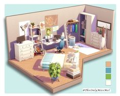 The sims 4 Sims 4 House Plans, Sims 4 House Building, Sims 4 Bedroom, Sims 3 Rooms, Muebles Sims 4 Cc, Sims 4 House Design, Casas The Sims 4, Play Sims, Sims 4 Build